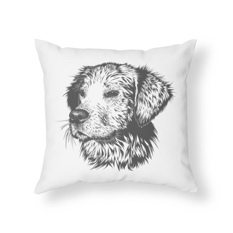Dog Home Throw Pillow by muratduman's Artist Shop