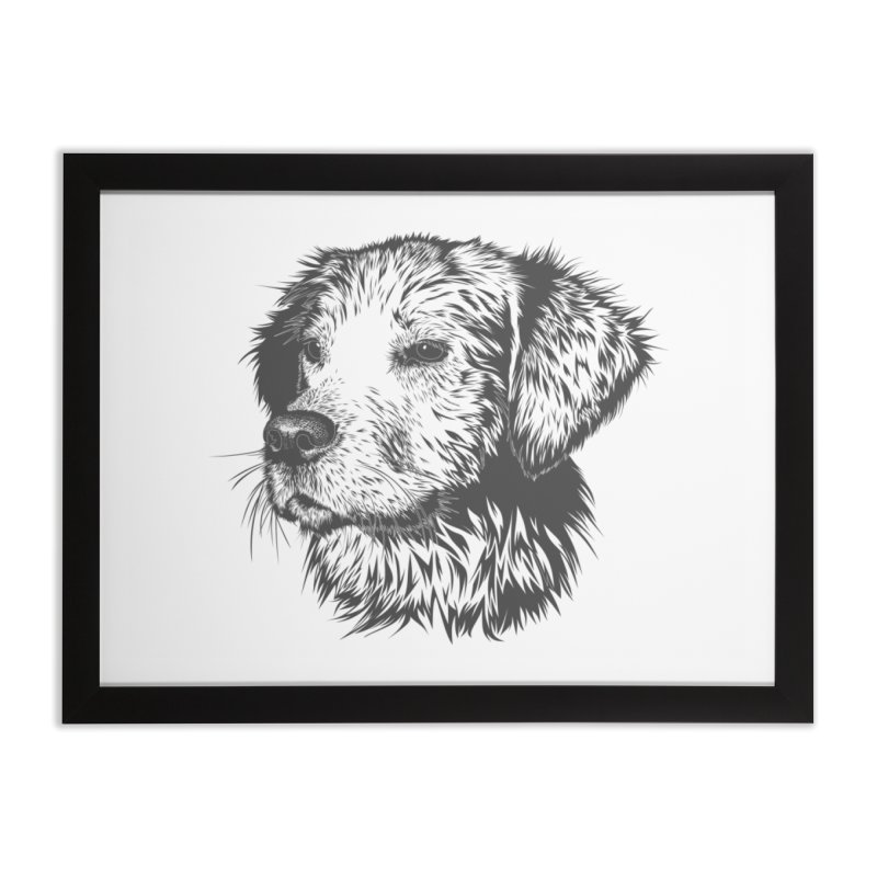 Dog Home Framed Fine Art Print by muratduman's Artist Shop
