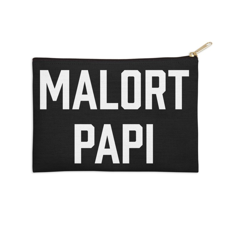 Malort Papi (white font) Accessories Zip Pouch by murdamex's Artist Shop