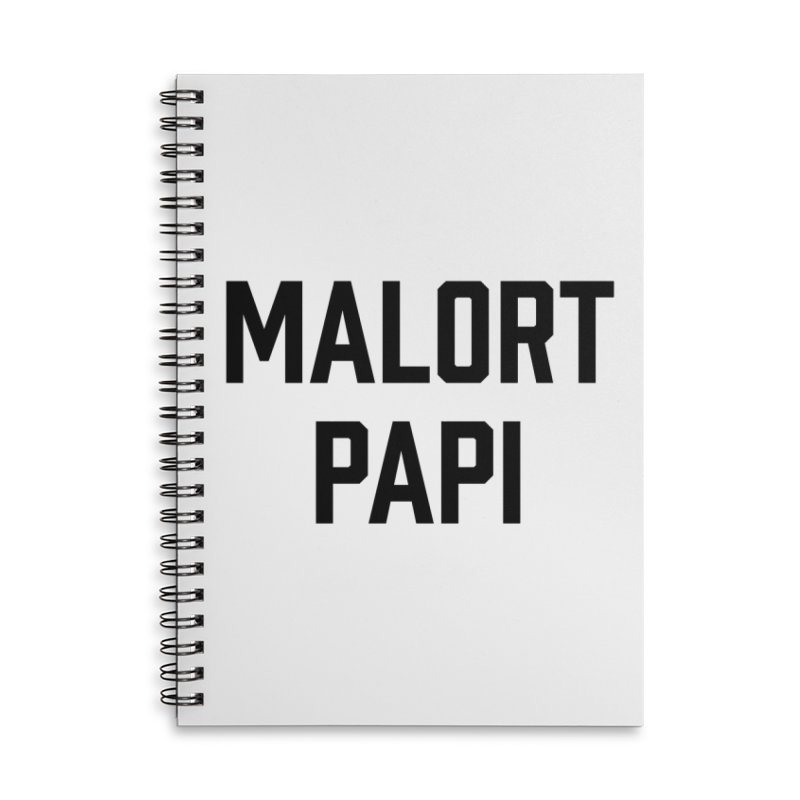 Malort Papi (black font) Accessories Notebook by murdamex's Artist Shop
