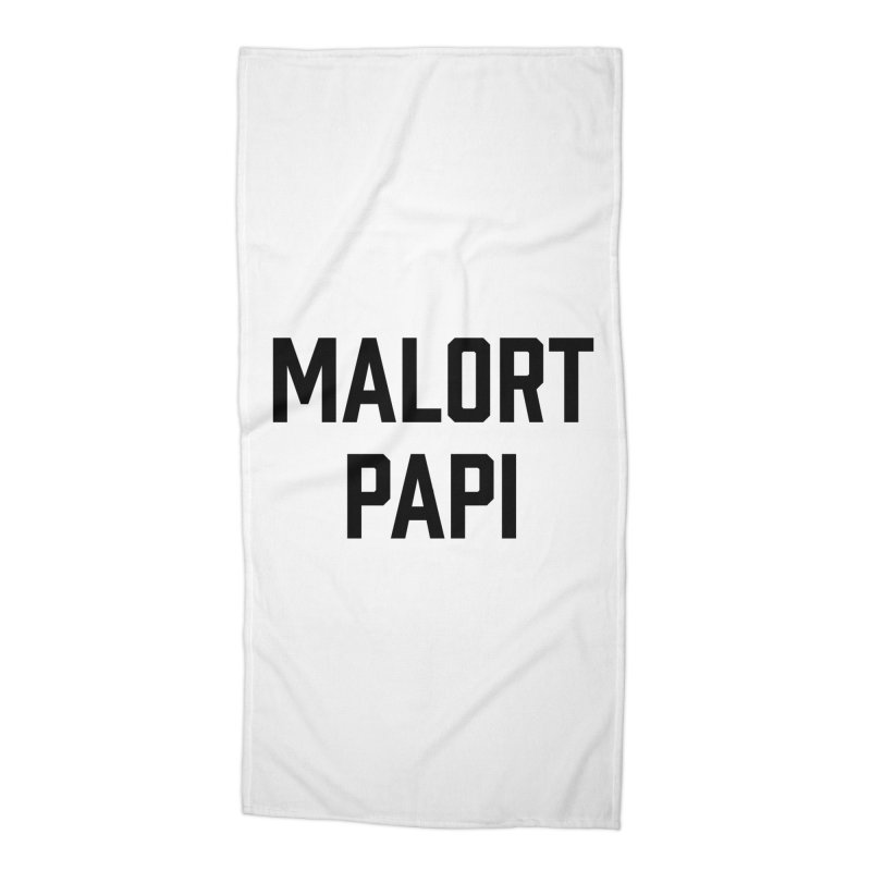 Malort Papi (black font) Accessories Beach Towel by murdamex's Artist Shop