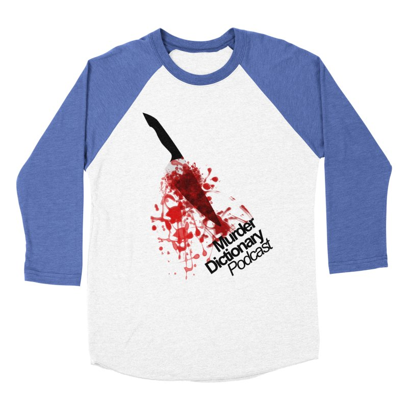 Murder Dictionary Knife in Men's Baseball Triblend Longsleeve T-Shirt Tri-Blue Sleeves by Murder Dictionary's Artist Shop