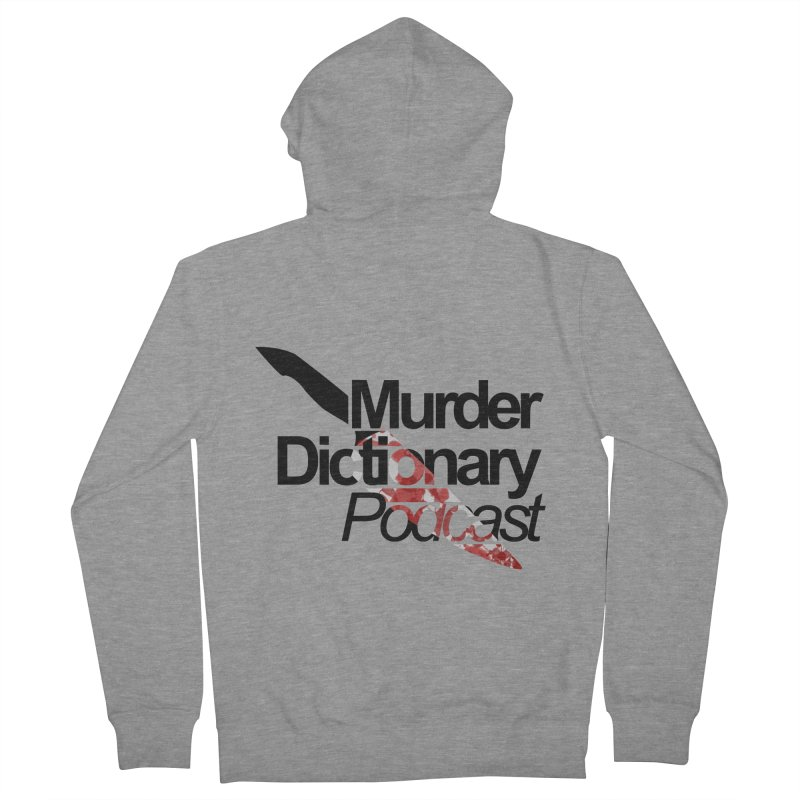 Hidden Murder Weapon in Men's French Terry Zip-Up Hoody Heather Graphite by Murder Dictionary's Artist Shop