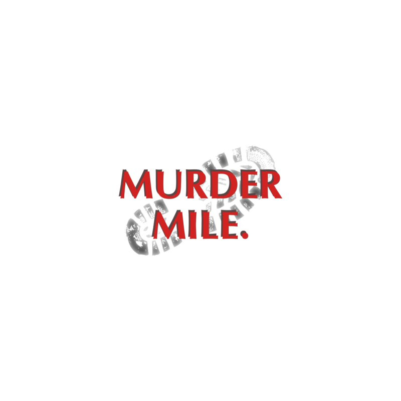 Murder Mile (Transparent Logo) Men's T-Shirt by Murder Mile True-Crime Podcast - Merchandise