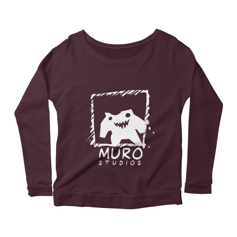 Muro Studios Logo Women's Longsleeve Scoopneck  by Muro Studios Shop