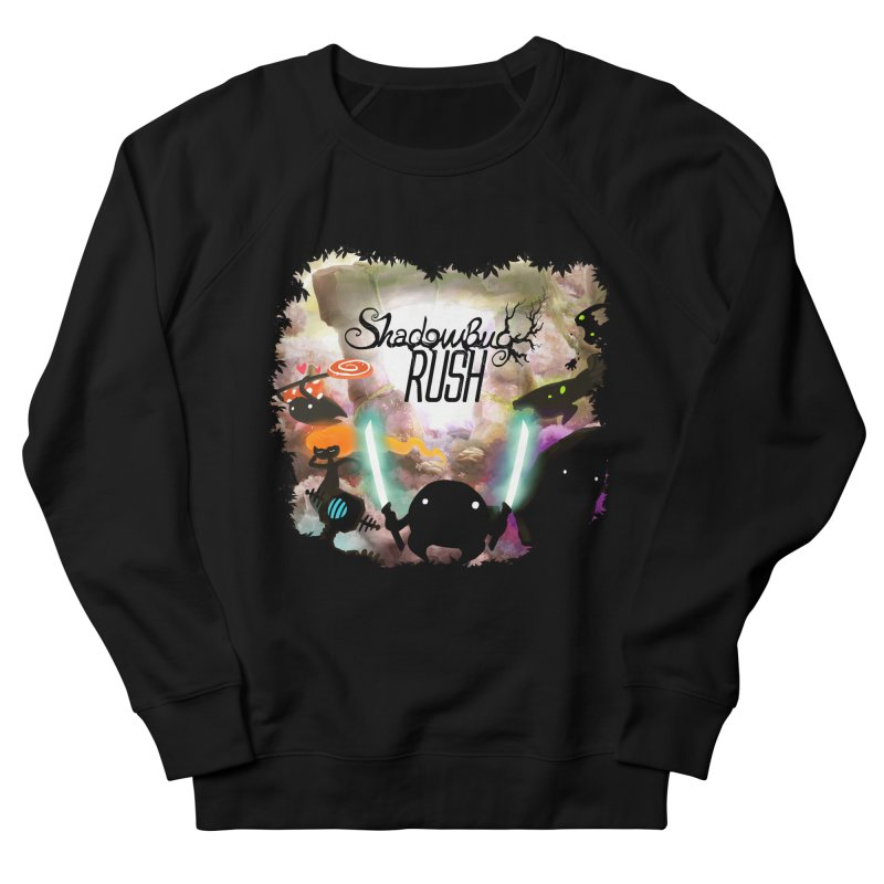 Shadow Bug Rush in Women's French Terry Sweatshirt Black by Muro Studios Shop