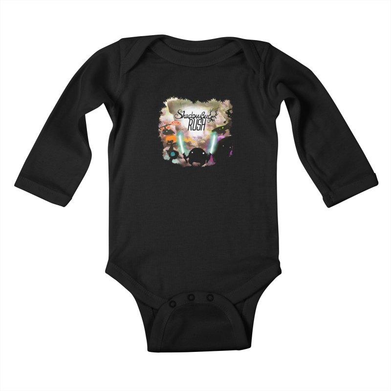 Shadow Bug Rush Kids Baby Longsleeve Bodysuit by Muro Studios Shop
