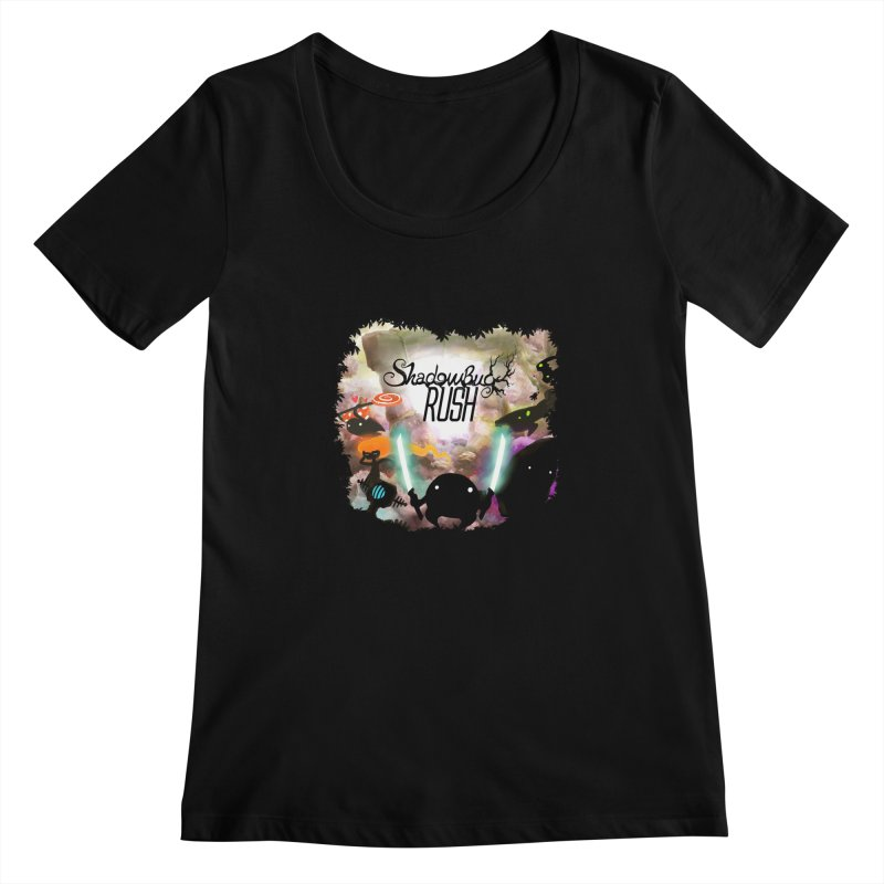 Shadow Bug Rush Women's Scoopneck by Muro Studios Shop