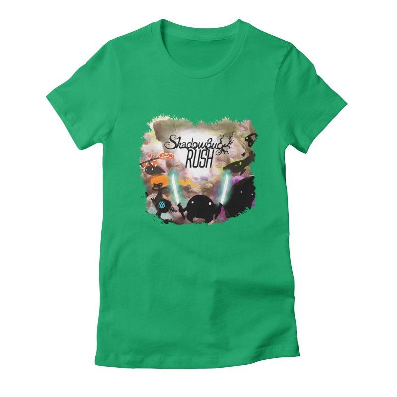 Shadow Bug Rush Women's Fitted T-Shirt by Muro Studios Shop