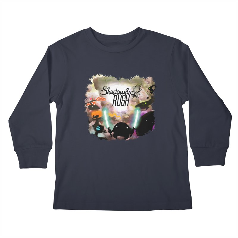Shadow Bug Rush Kids Longsleeve T-Shirt by Muro Studios Shop