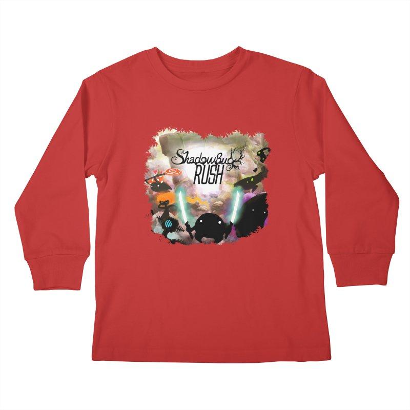 Shadow Bug Rush Kids Longsleeve T-Shirt by Muro Studios Shop