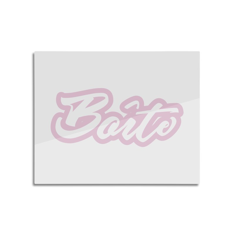 Boîte - PINK Home Mounted Aluminum Print by Murphed