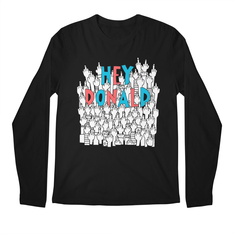Hey Donald Men's Longsleeve T-Shirt by Active Ink
