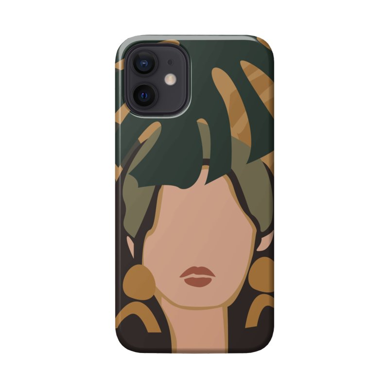 Woman with Plant Accessories Phone Case by Muses9 Artist Shop