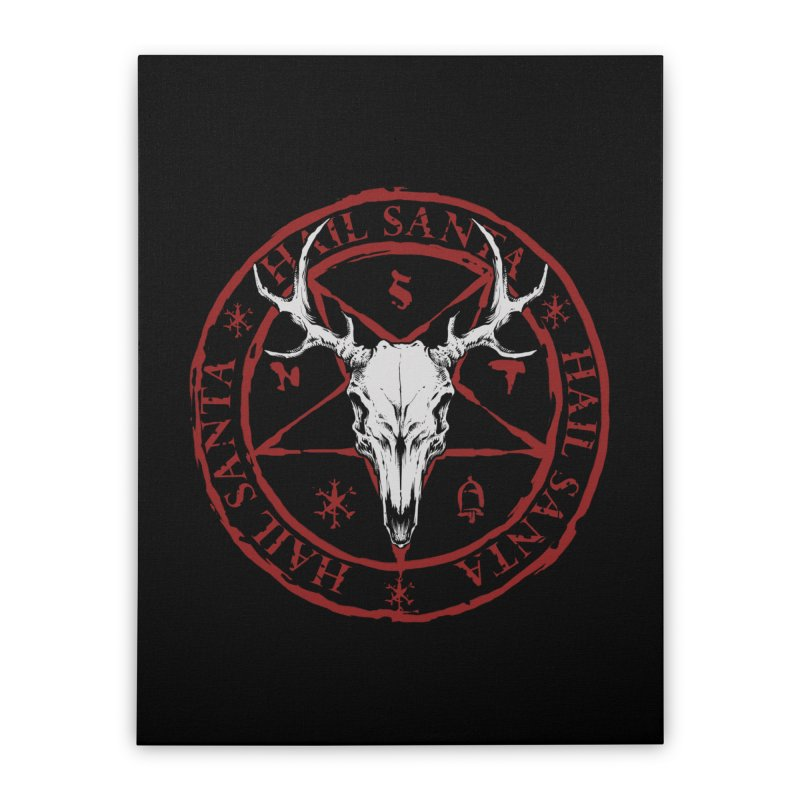 Hail Santa Home Stretched Canvas by THE DARK SIDE