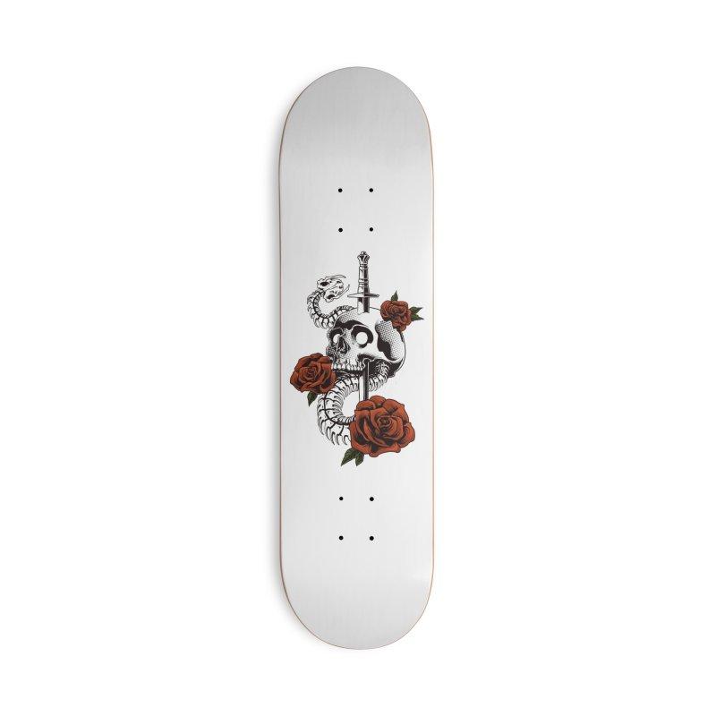 skull Accessories Skateboard by THE DARK SIDE