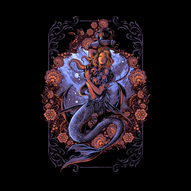 mermaid Home Stretched Canvas by THE DARK SIDE