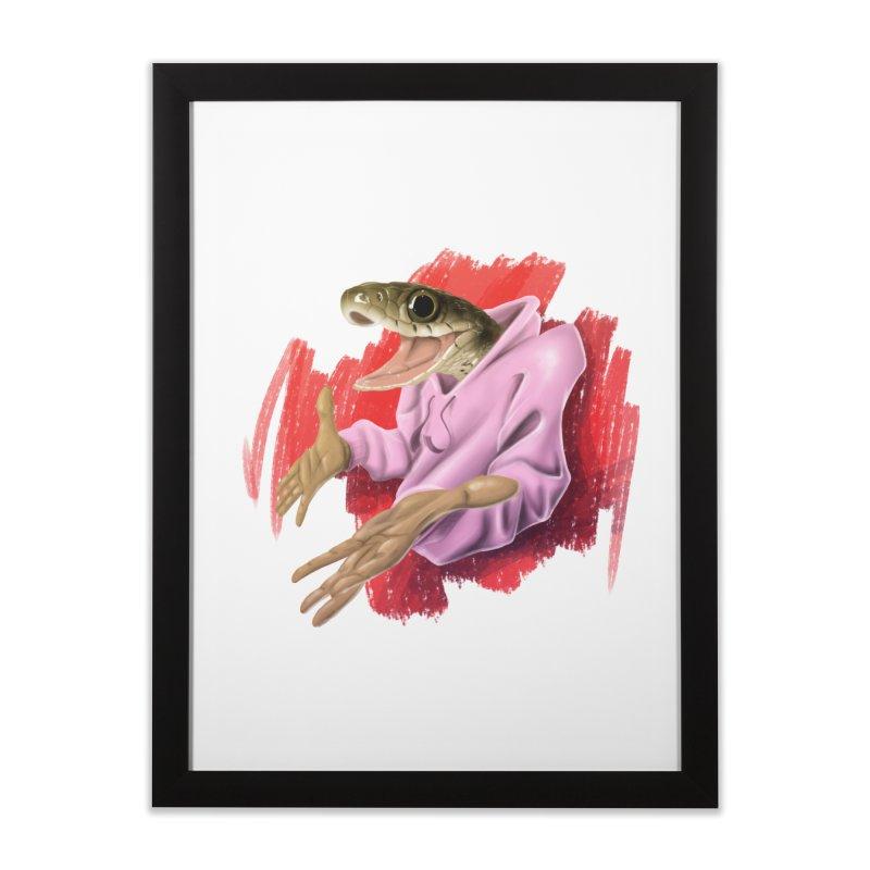 HAPPY ONE! Home Framed Fine Art Print by mushroom's Artist Shop