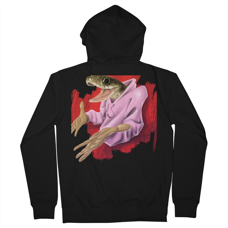 HAPPY ONE! Men's French Terry Zip-Up Hoody by mushroom's Artist Shop