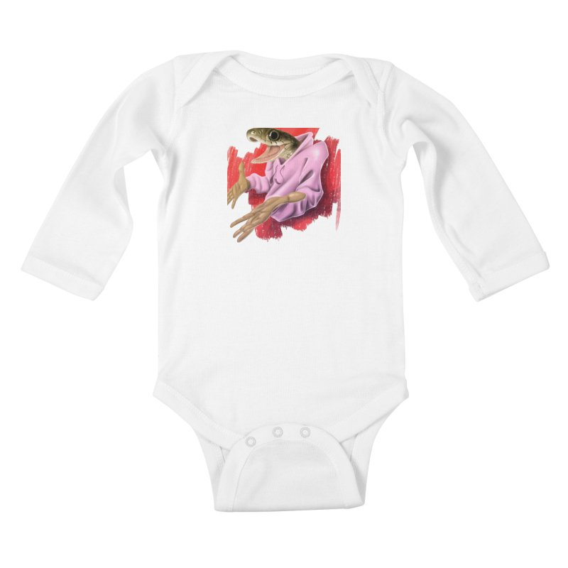 HAPPY ONE! Kids Baby Longsleeve Bodysuit by mushroom's Artist Shop