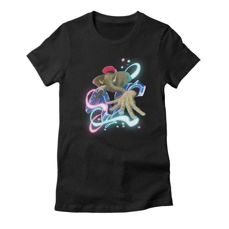 THE ELESWAG Women's Fitted T-Shirt by mushroom's Artist Shop
