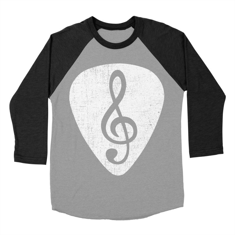 Guitar Pick Women's Baseball Triblend T-Shirt by musica