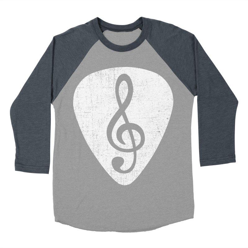 Guitar Pick Women's Baseball Triblend T-Shirt by musica