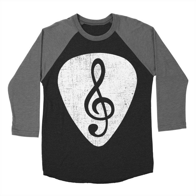Guitar Pick Men's Baseball Triblend T-Shirt by musica