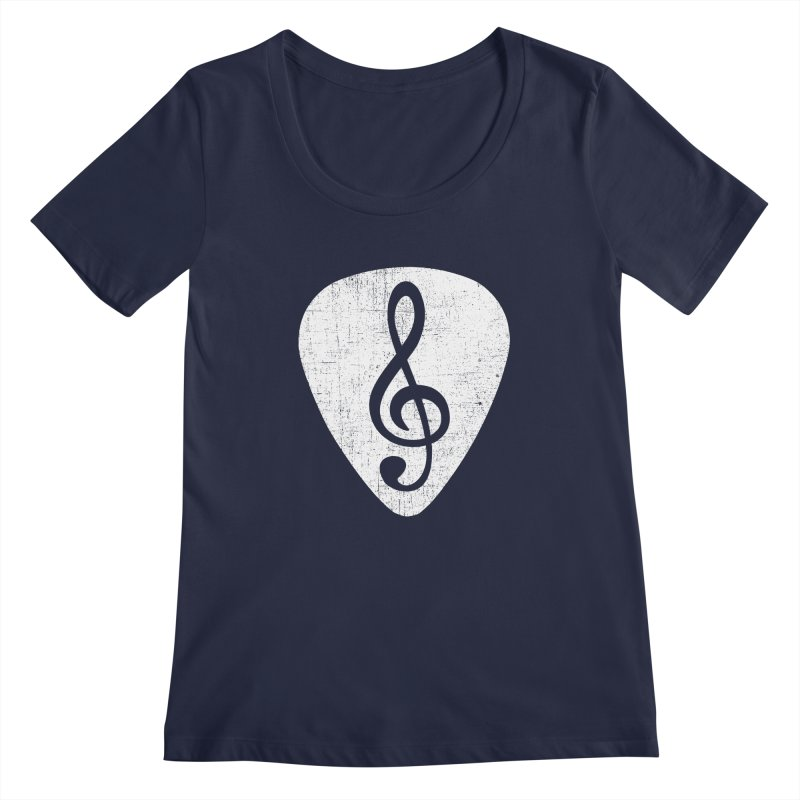Guitar Pick Women's Scoopneck by musica