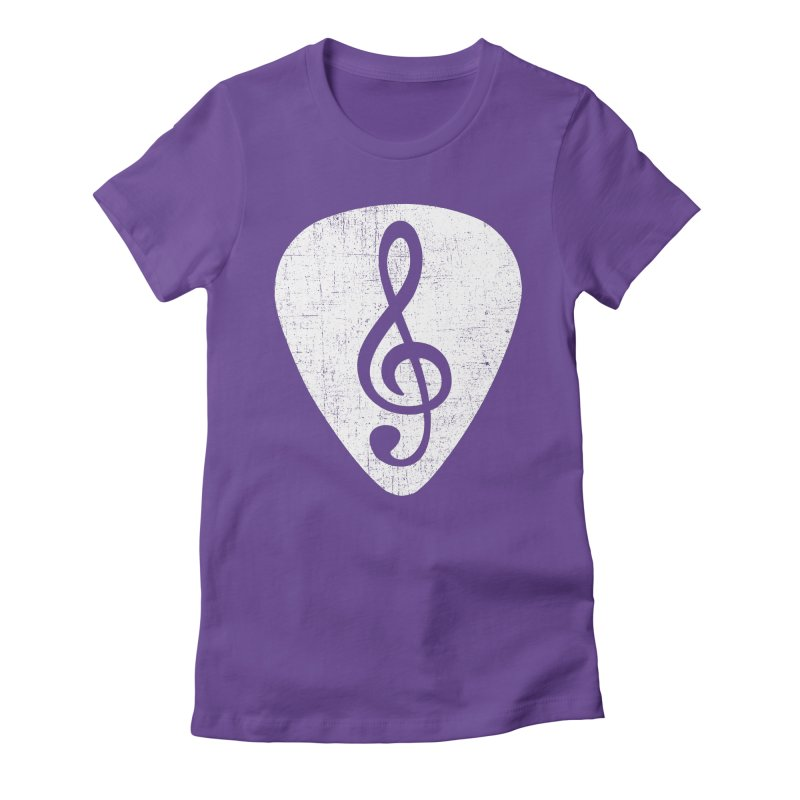 Guitar Pick Women's Fitted T-Shirt by musica