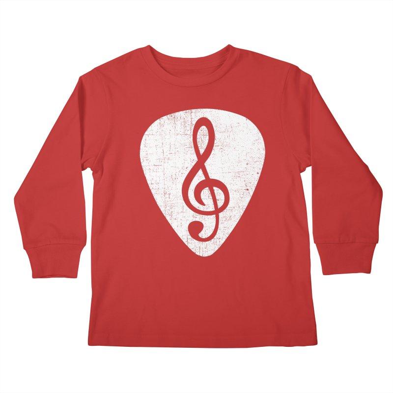 Guitar Pick Kids Longsleeve T-Shirt by musica