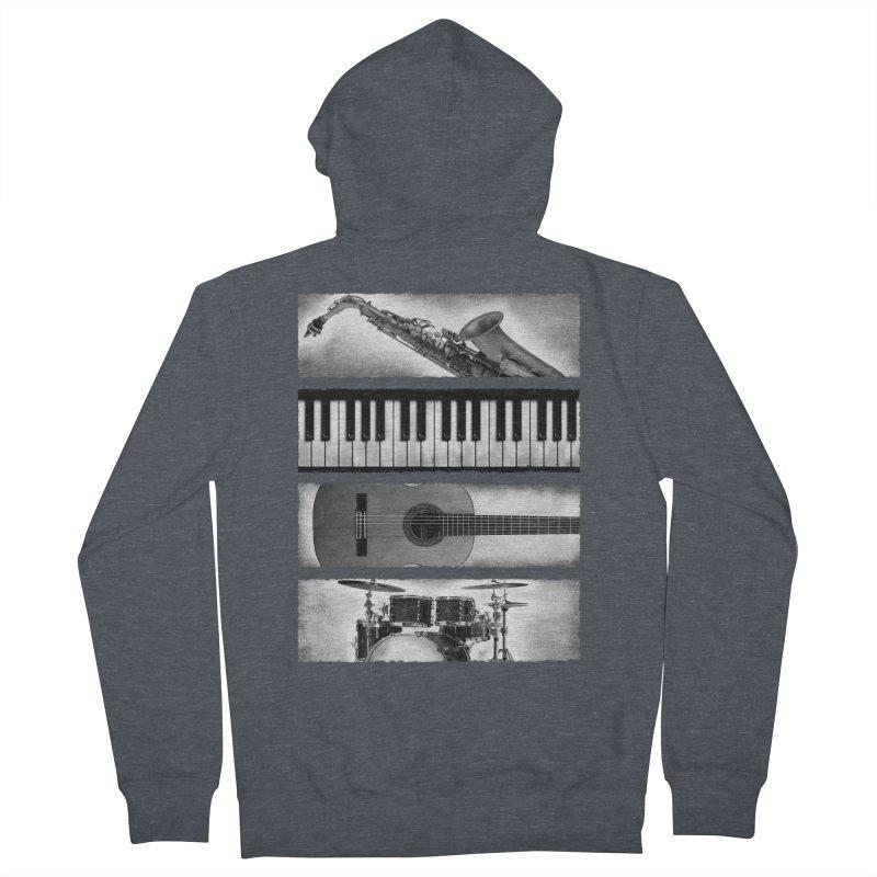 Music Elements Men's Zip-Up Hoody by musica