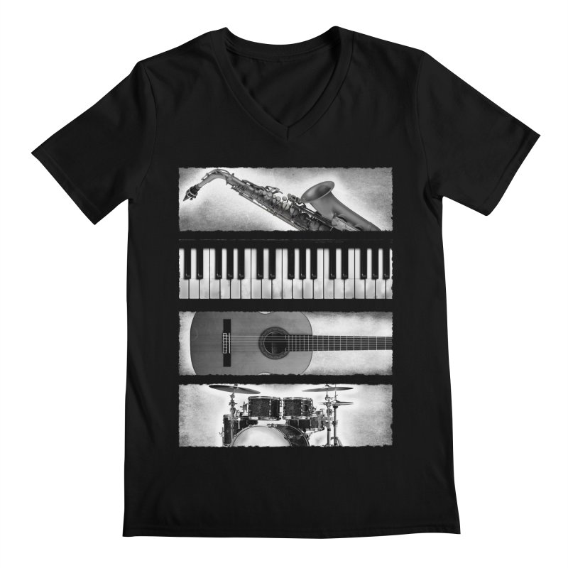 Music Elements Men's V-Neck by musica