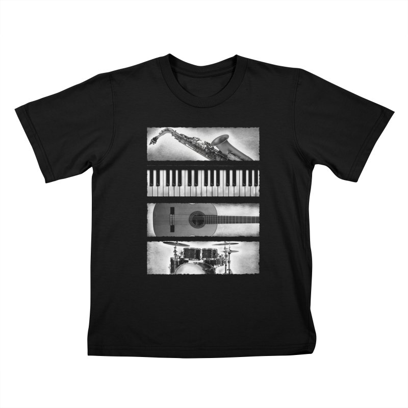Music Elements Kids T-shirt by musica