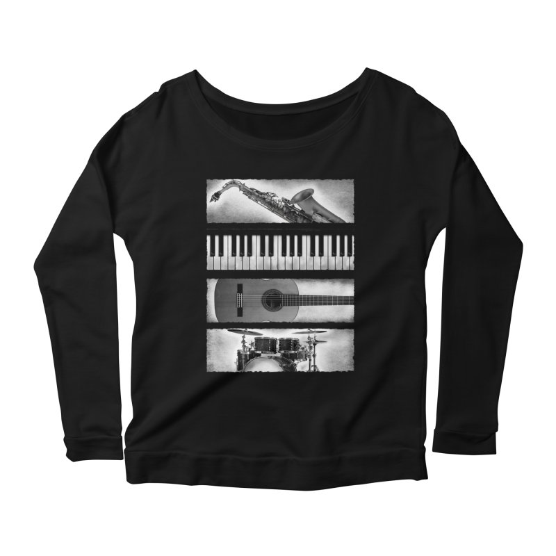 Music Elements Women's Longsleeve Scoopneck  by musica