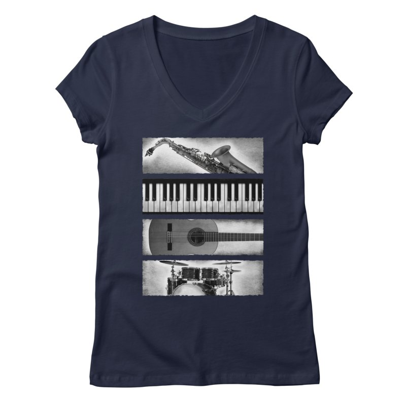 Music Elements Women's V-Neck by musica