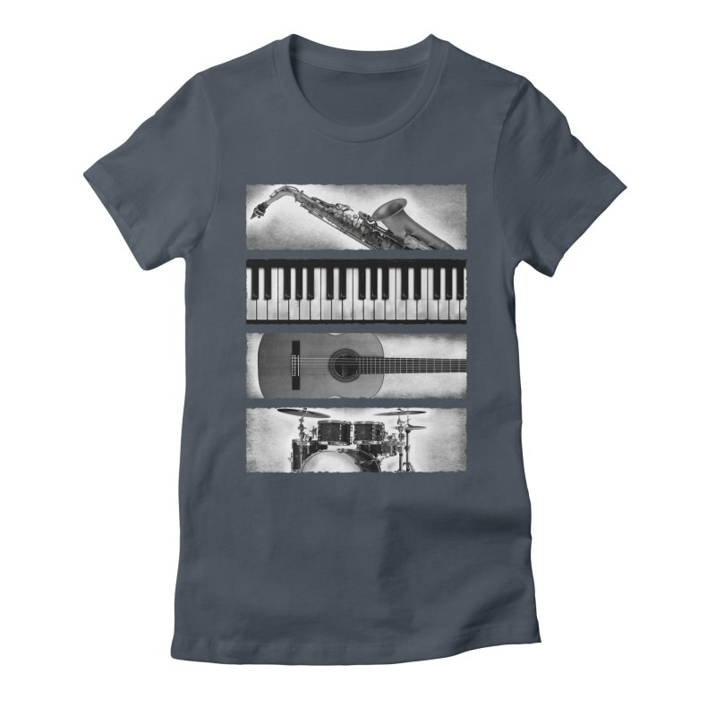 Music Elements Women's Fitted T-Shirt by musica