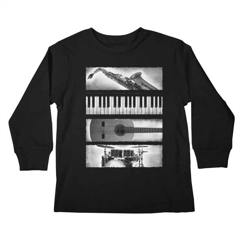 Music Elements Kids Longsleeve T-Shirt by musica