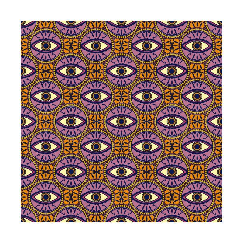 Circular Evil Eye Pattern in Orange and Purple by Tamara Lance