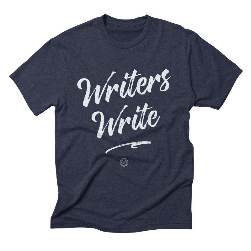 Writers Write in Men's Triblend T-shirt Navy by Rahim Snow