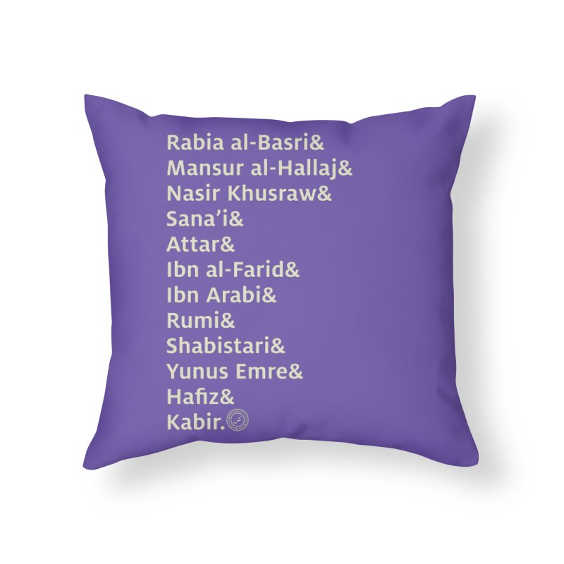 Love Me Some Muslim Poetry in Throw Pillow by Rahim Snow