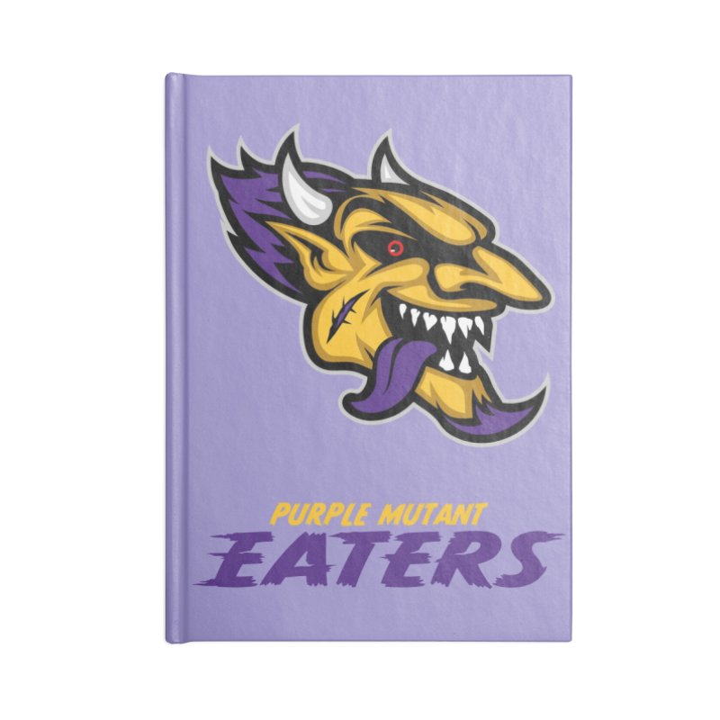 MFL Purple Mutant Eaters journal Accessories Blank Journal Notebook by Mutant Football League Team Store