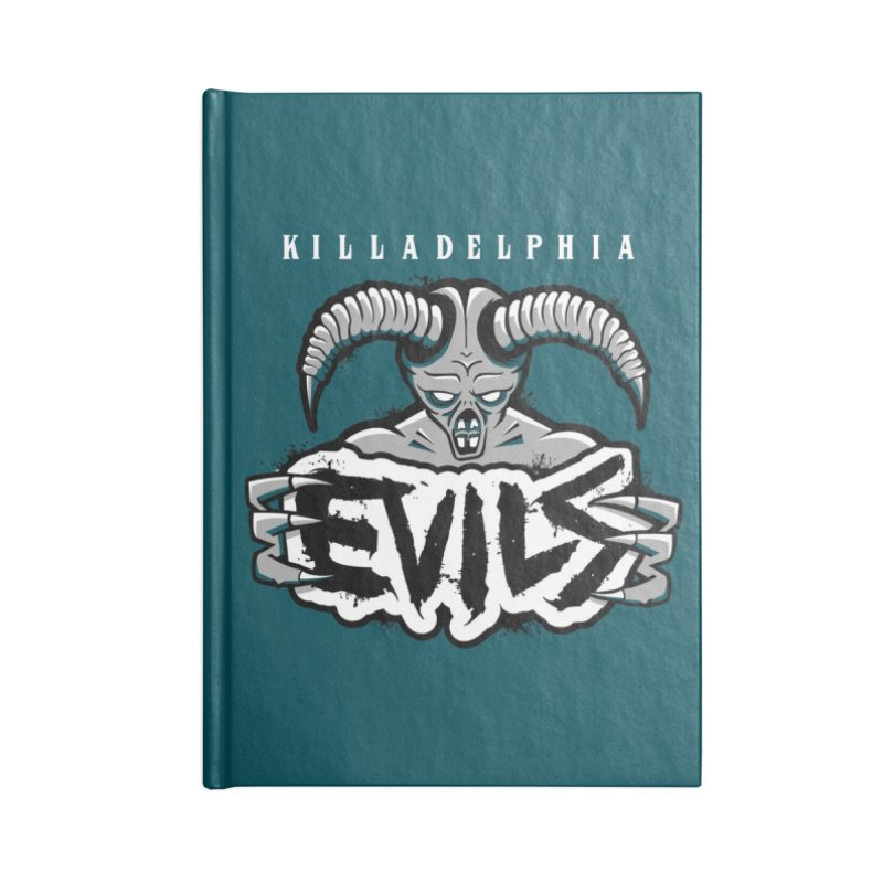 MFL Killadelphia Evils journal Accessories Lined Journal Notebook by Mutant Football League Team Store