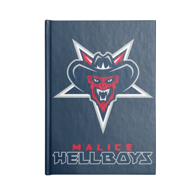 MFL Malice Hellboys journal Accessories Blank Journal Notebook by Mutant Football League Team Store