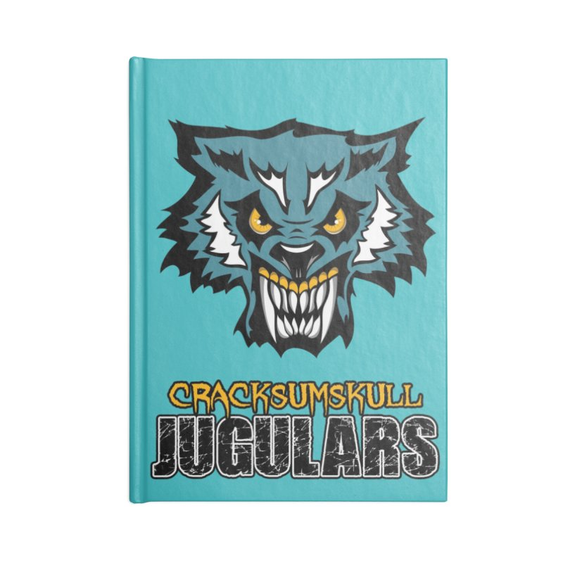 MFL Cracksumskull Jugulars journal Accessories Lined Journal Notebook by Mutant Football League Team Store