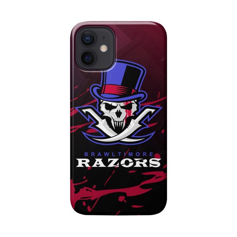 MFL Brawltimore Razors logo Accessories Phone Case by Mutant Football League Team Store