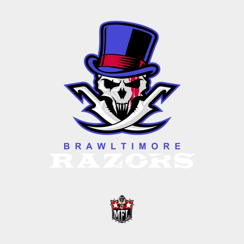 MFL Brawltimore Razors apparel Men's T-Shirt by Mutant Football League Team Store