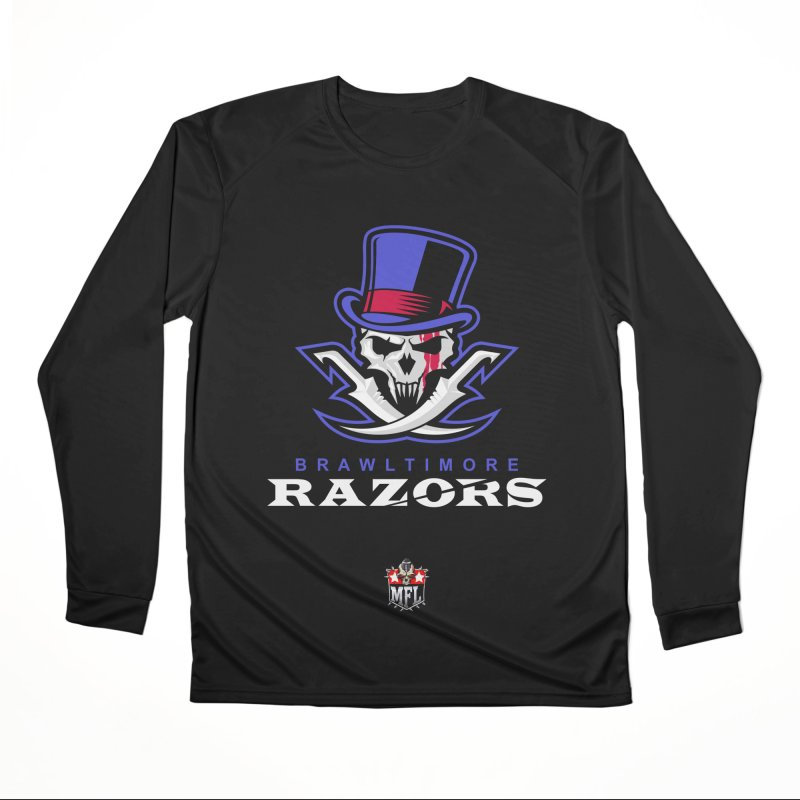 MFL Brawltimore Razors apparel Women's Performance Unisex Longsleeve T-Shirt by Mutant Football League Team Store