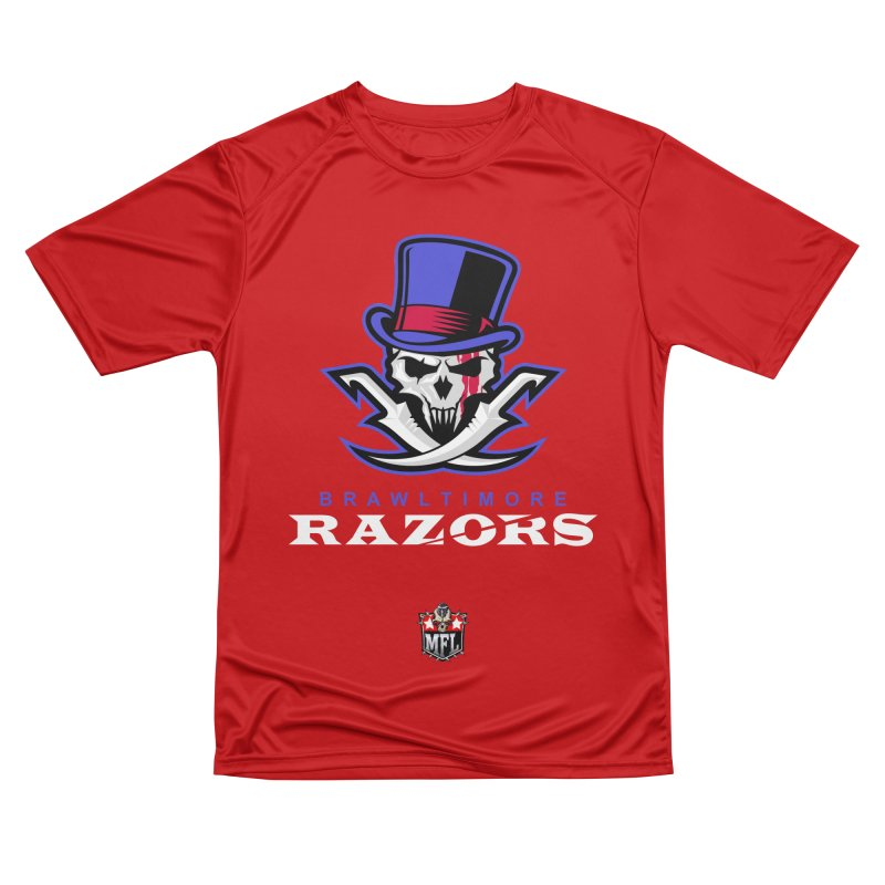 MFL Brawltimore Razors apparel Men's Performance T-Shirt by Mutant Football League Team Store