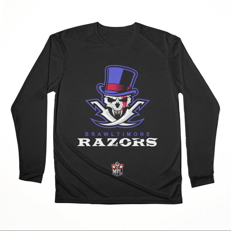 MFL Brawltimore Razors apparel Men's Performance Longsleeve T-Shirt by Mutant Football League Team Store
